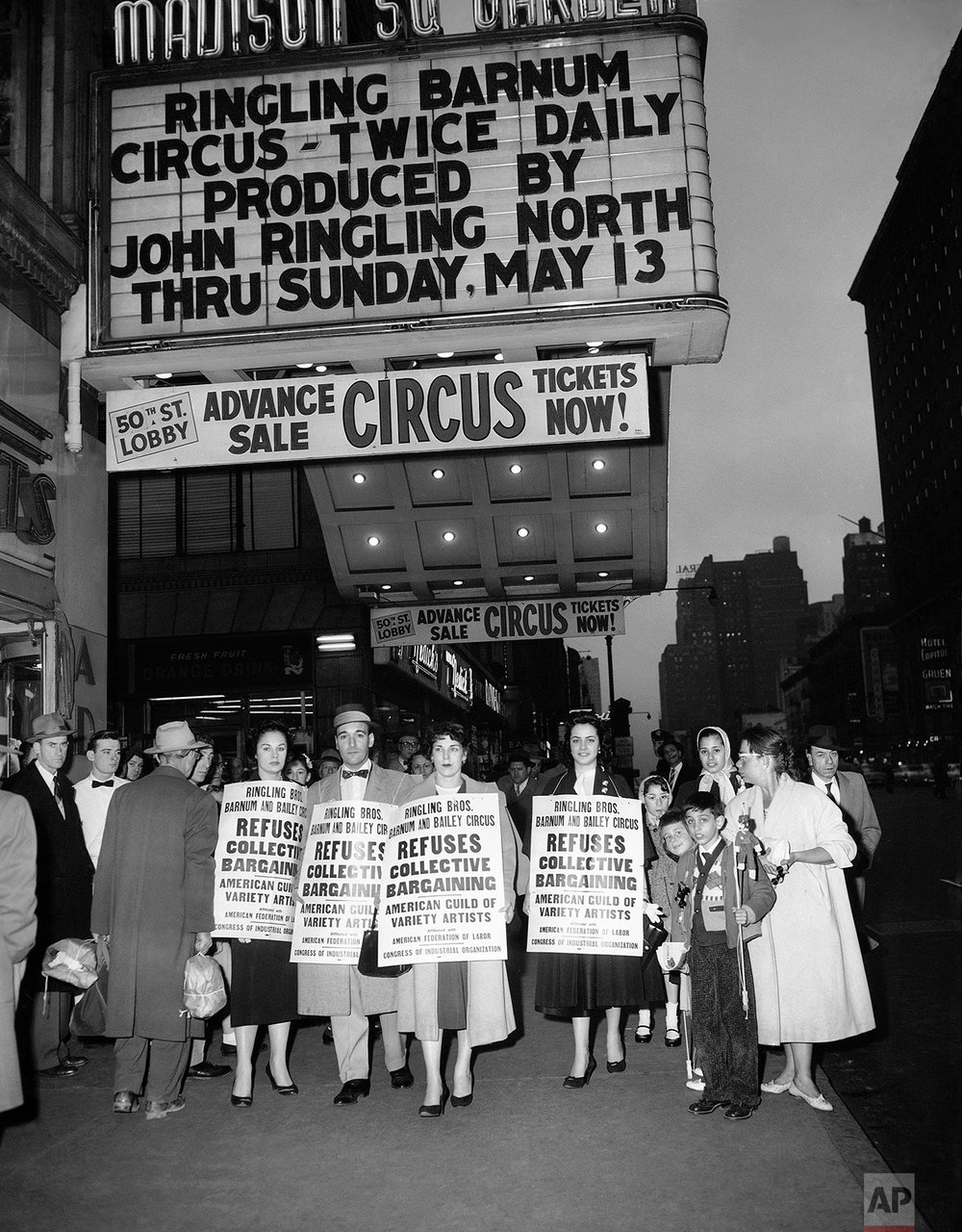 Labor Unions Performers Protest 1956