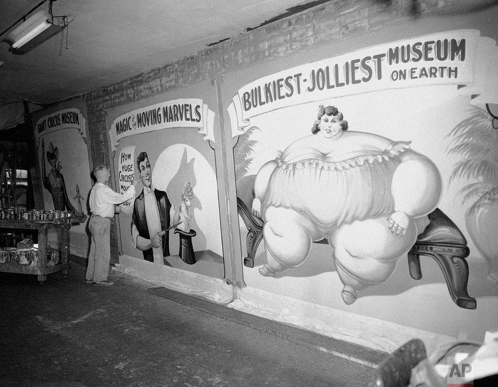 Circus Banner Artist 1959