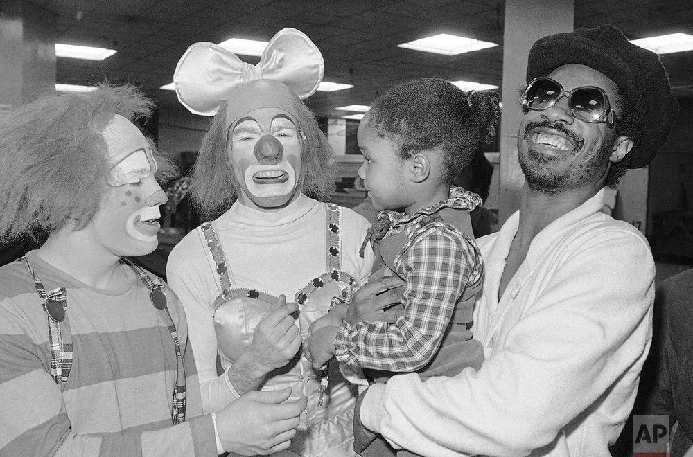 Stevie Wonder Circus Clowns 1978