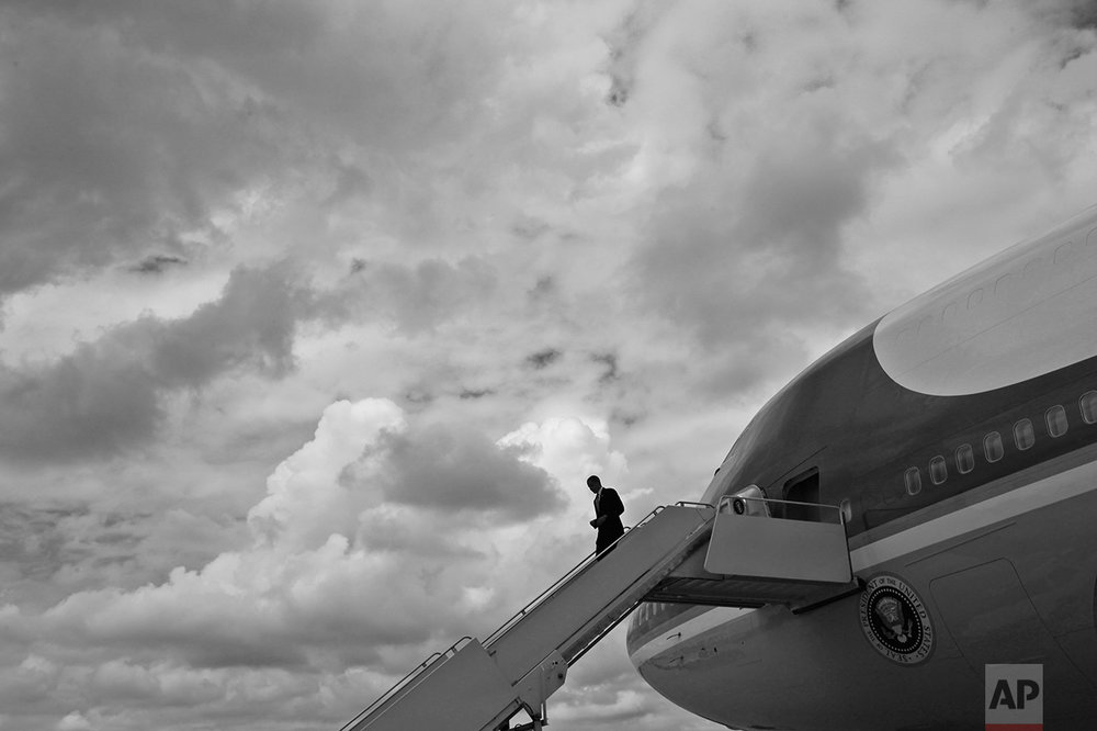 President Barack Obama alone is accountable for the fragile economy, two wars, and a divided nation on the health care issue. President Barack Obama steps off Air Force One at Andrews Air Force Base, Md., after traveling to Atlanta, Georgia, Monday, Aug. 2, 2010. (AP Photo/Charles Dharapak)