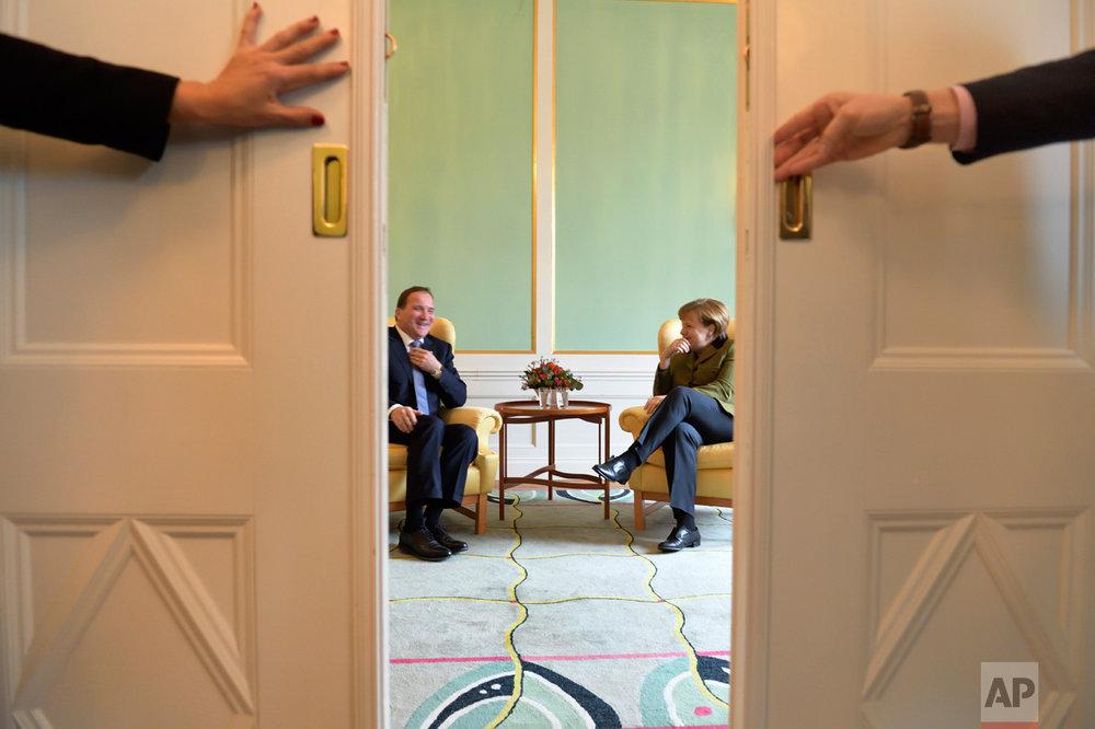 Sweden Germany Merkel Visit