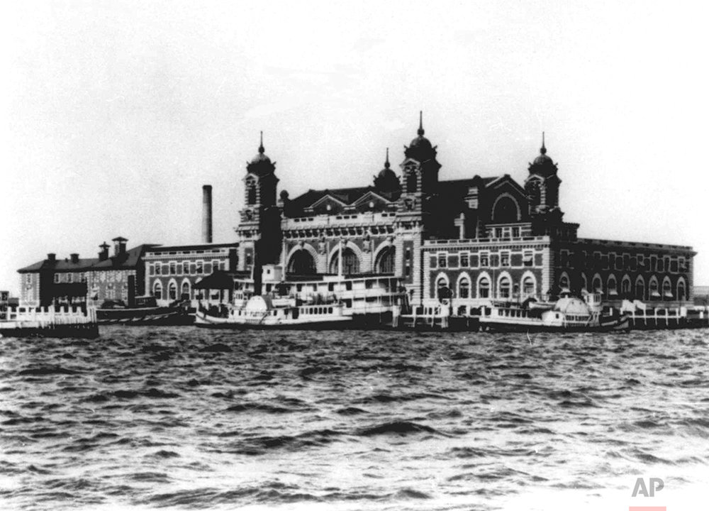 The main registry building on Ellis Island, the nation's gateway for millions of immigrants, is shown in this 1905 photo. (AP Photo)
