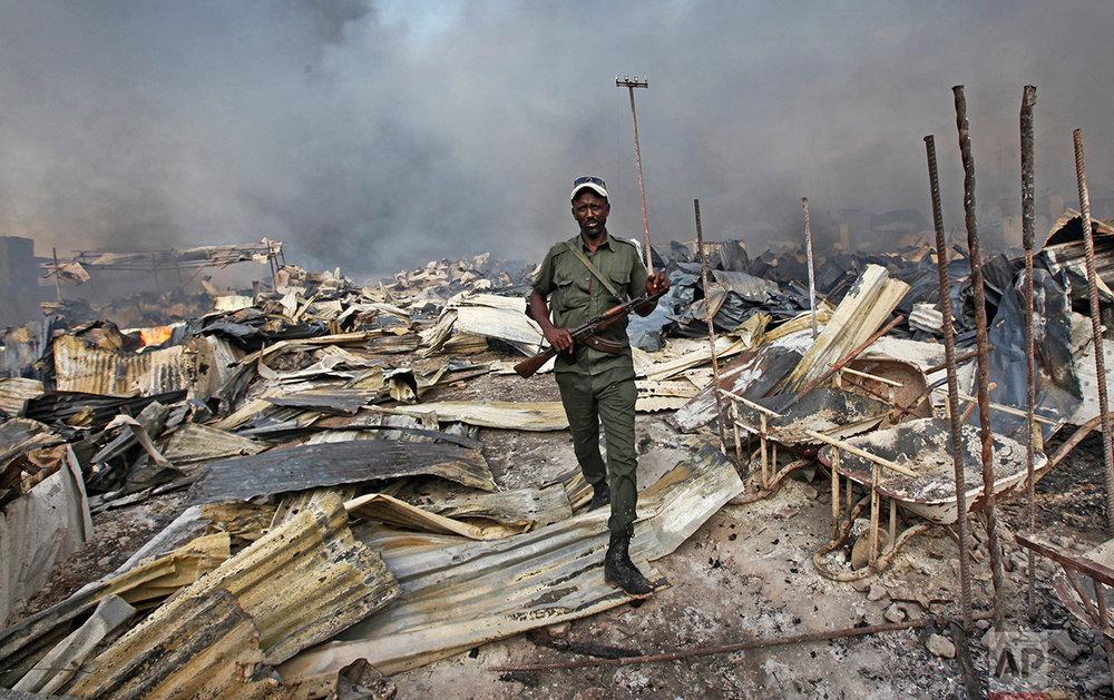 Somalia Market Fire