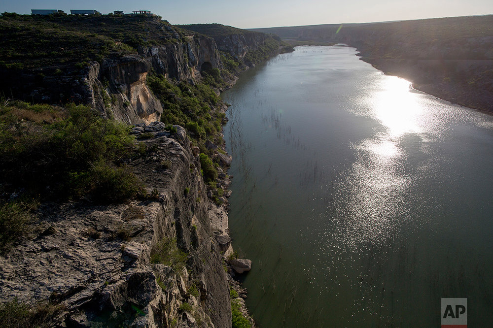 The Pecos River near the US-Mexico border in Texas, Monday, March 27, 2017. (AP Photo/Rodrigo Abd)
