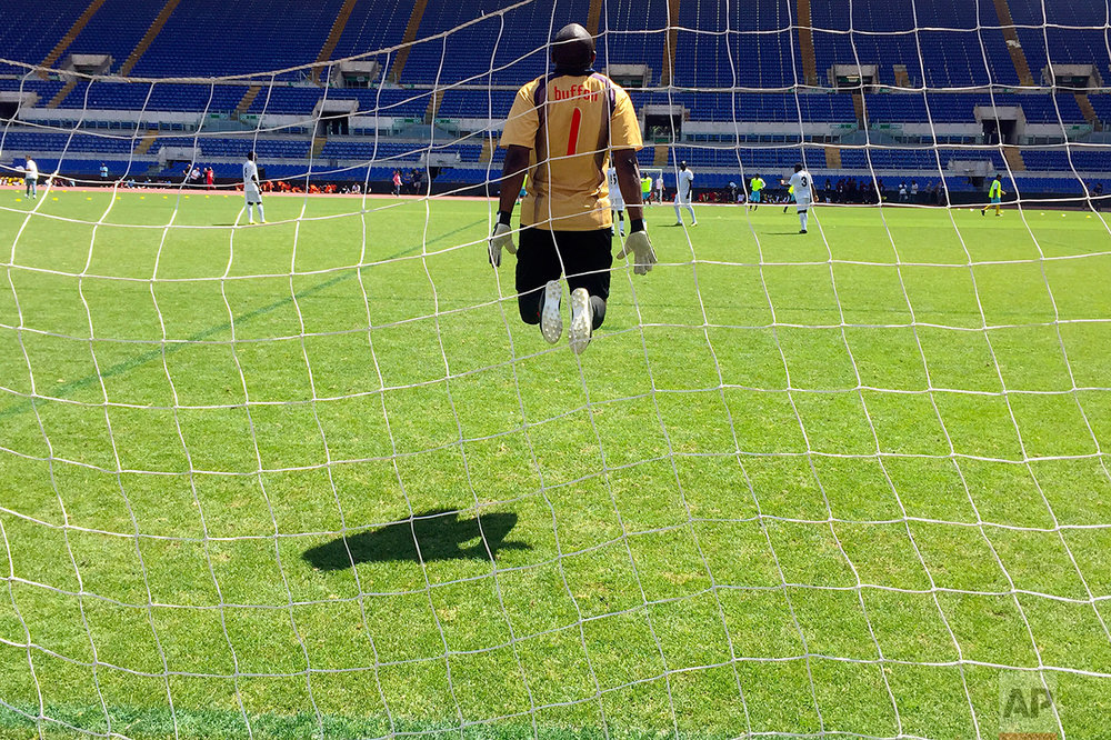 Italy Migrants Soccer