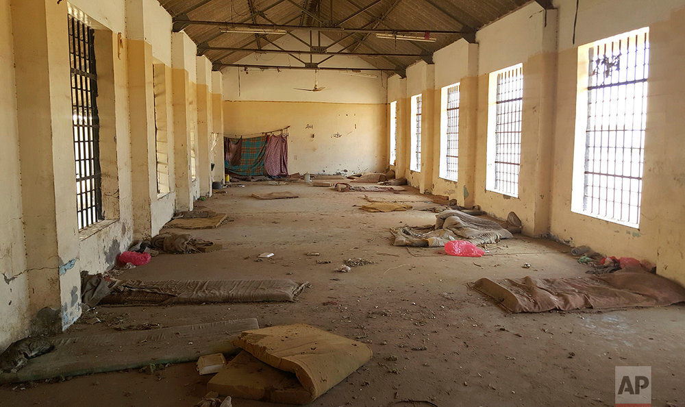 A deserted cell in the public section of Aden Central Prison.
