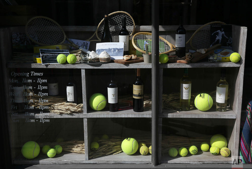 Britain Wimbledon Tennis Displays