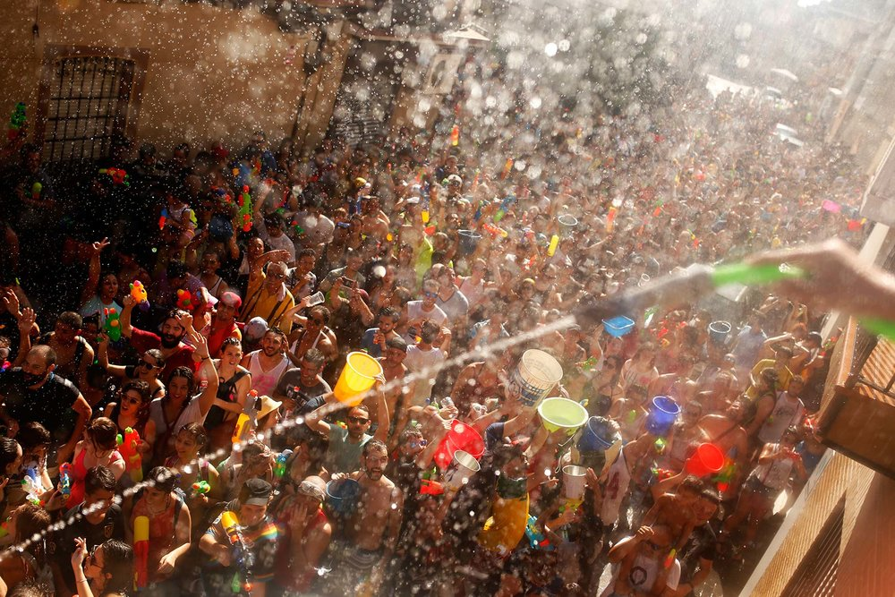 Spain Water Fight