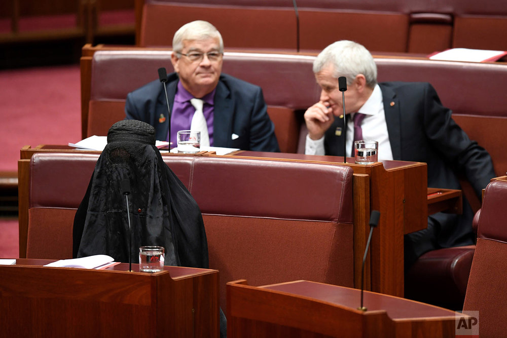 Australia Burqa Stunt