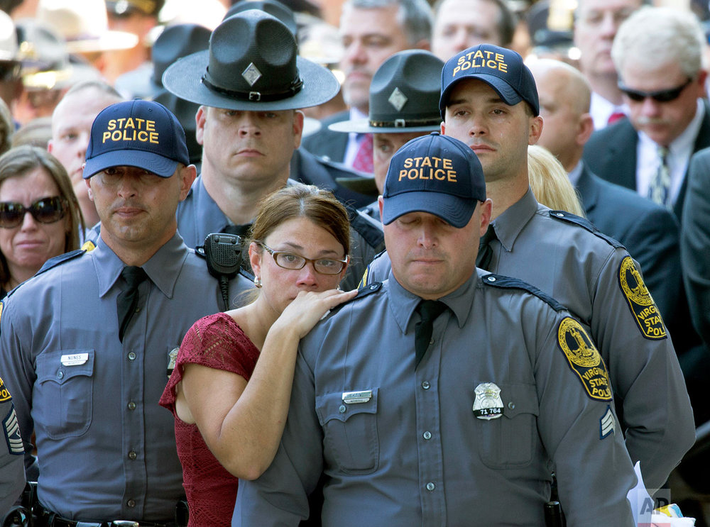 Confederate Monument Protest Trooper Funeral