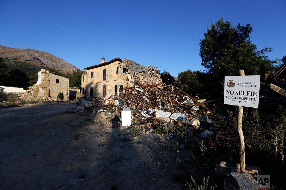 Italy Quake Anniversary