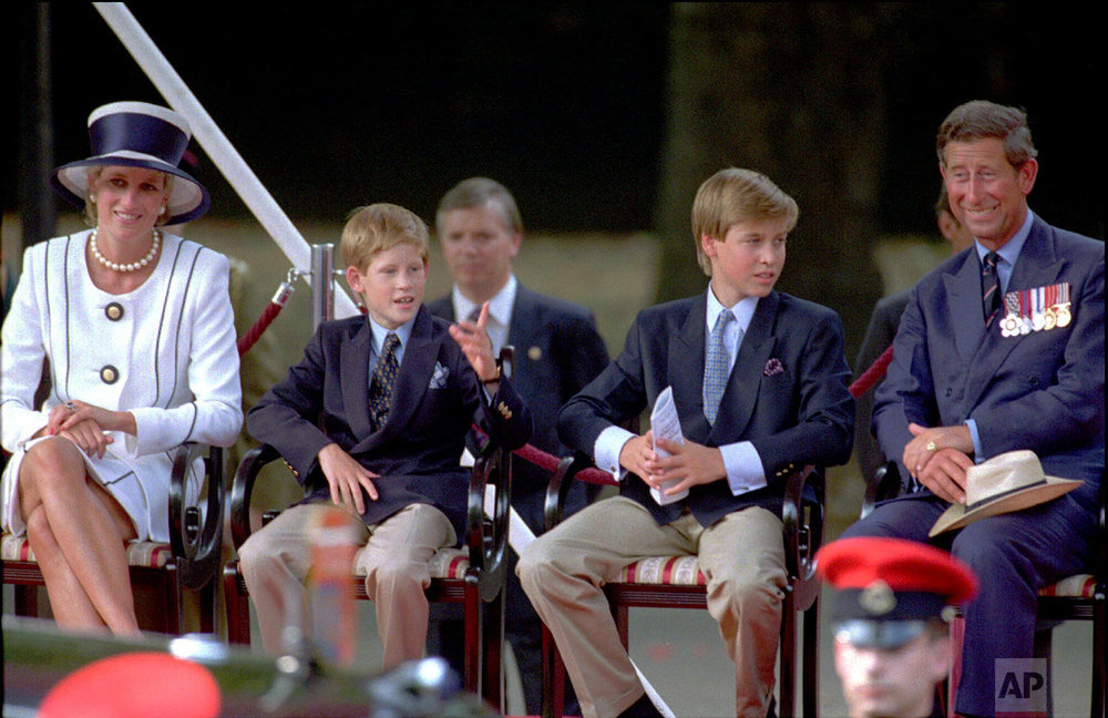 Princess Diana, her sons Prince Harry and Prince William and Prince Charles  in 1995