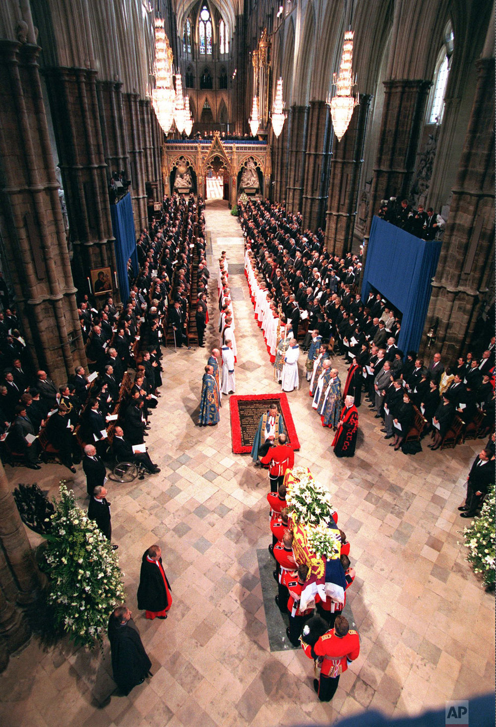 The funeral of Princess Diana in 1997