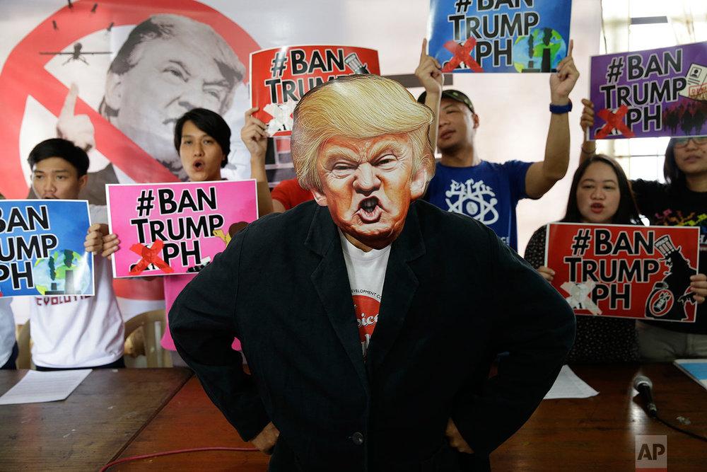 Philippines Trump Protest