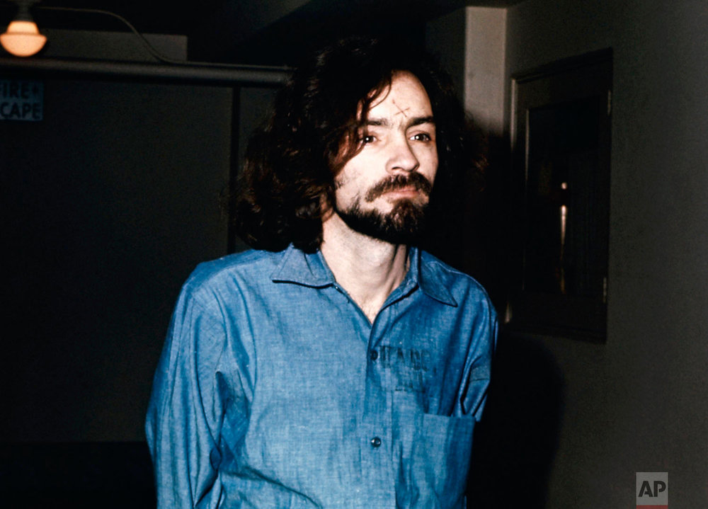 Charles Manson during his trial in an undated photo. (AP Photo)