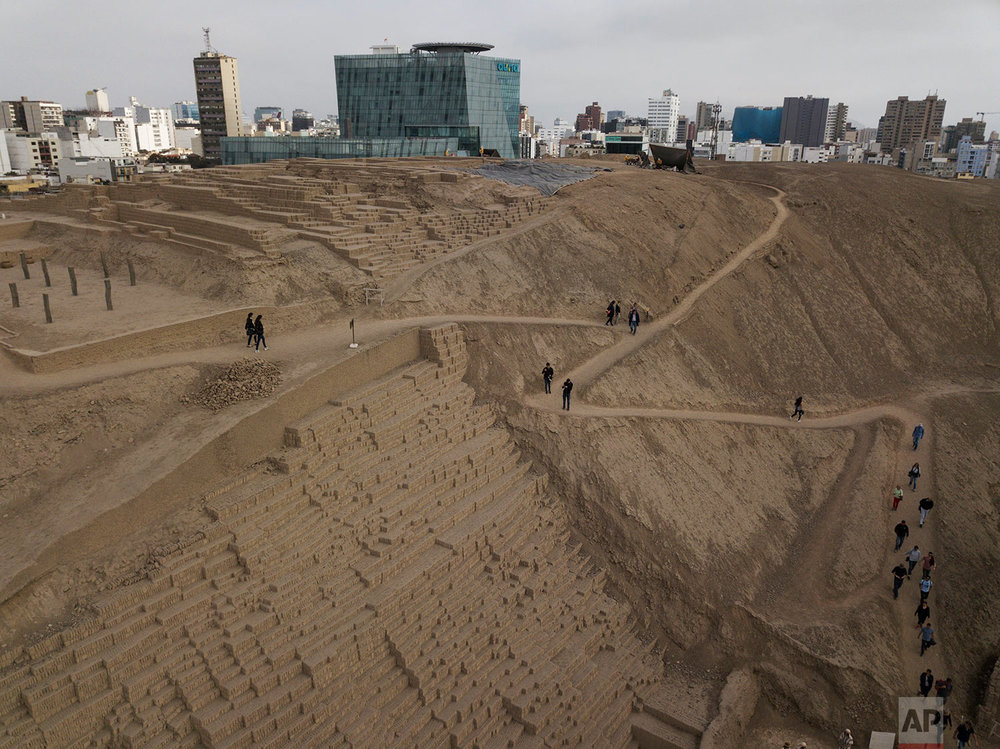 Pucllana, pre-Columbian archeological site, Miraflores district of Lima, Peru.