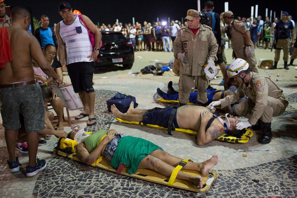 Brazil Car Hits Crowd
