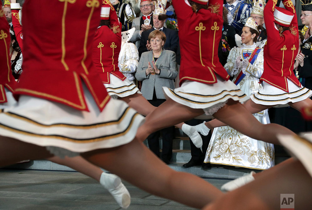 Germany Carnival Merkel