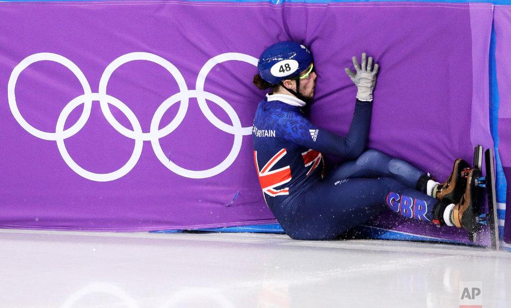 APTOPIX Pyeongchang Olympics Short Track Speed Skating Men