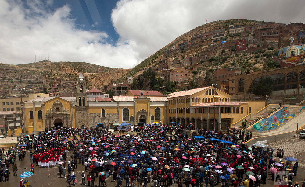 Bolivia Virgin Protest