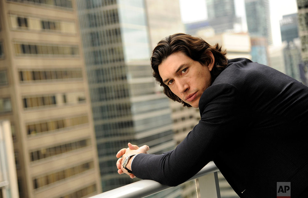 Actor Adam Driver poses for a portrait at the Shangri-La Hotel during the 2014 Toronto International Film Festival on Saturday, Sept. 6, 2014, in Toronto. (Photo by Chris Pizzello/Invision/AP)