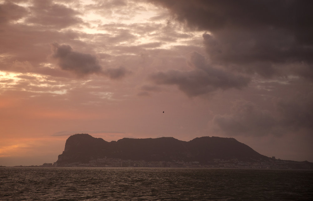 The Rock of Gibraltar, seen from Algeciras. (AP Photo/Emilio Morenatti)