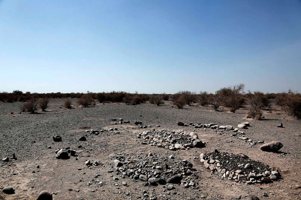 The graveyard of Fadl Halabi, Wadi al-Kabeer, Mocha, Yemen.(AP Photo/Nariman El-Mofty)