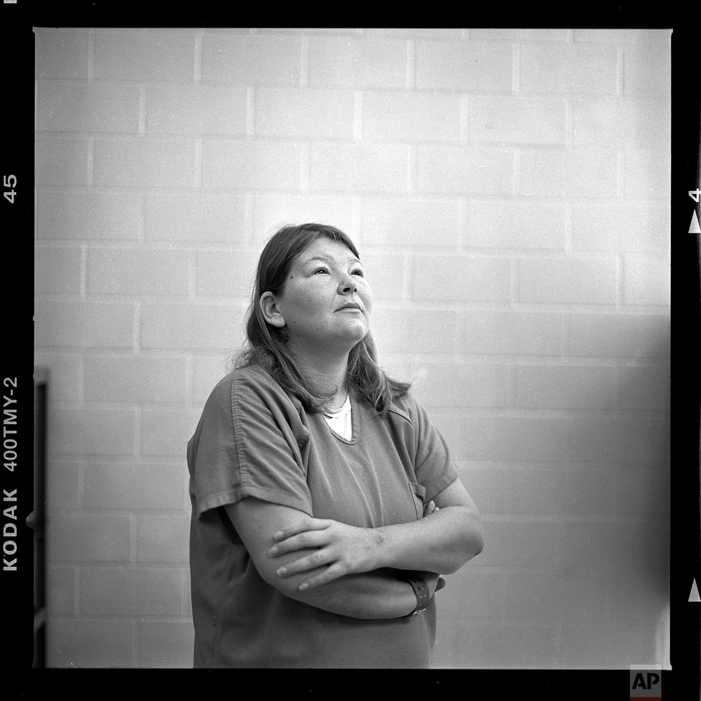 "Christy Wilson, age 29. ""One of the things that bothers me the most is my son came to visit me in jail and he was like 'mom please don't make me come and visit you here again.' It's hard. To see that little face, that gives me all the strength I need. How could you do something like that to someone you love so dearly? It's not the you don't love your kids but the addiction takes hold of you and you'll do anything you have to do to get it. It's a vicious cycle that never ends unless you quit drugs,"" said Wilson. (AP Photo/David Goldman)"