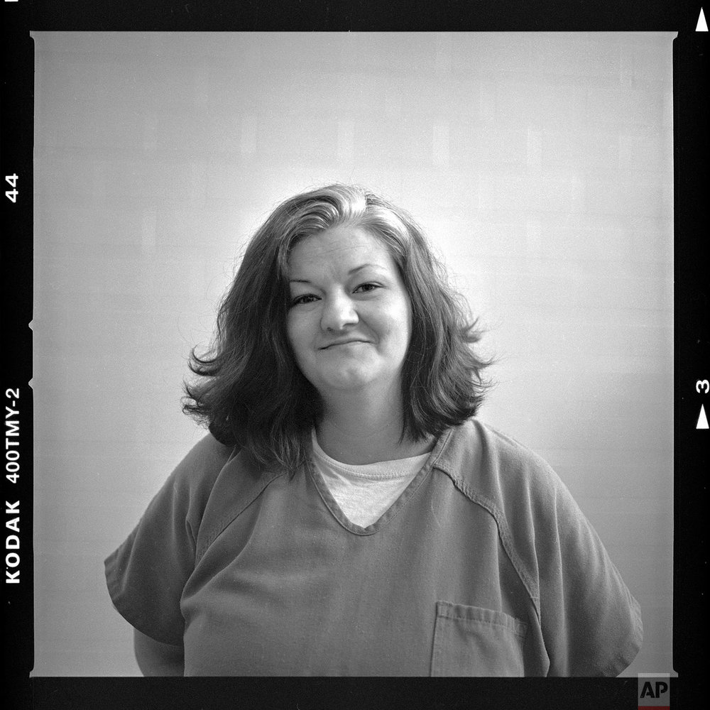 "Crystal French, age 38. ""I got to know the real me again instead of the addicted to drugs person. I had a lot of anger issues before. I'm working on them still. I'd like to be a productive citizen, not an OD statistic, end up dying on drugs. I am a good person. I know I am. But I want to see that person again,"" said French. (AP Photo/David Goldman)"
