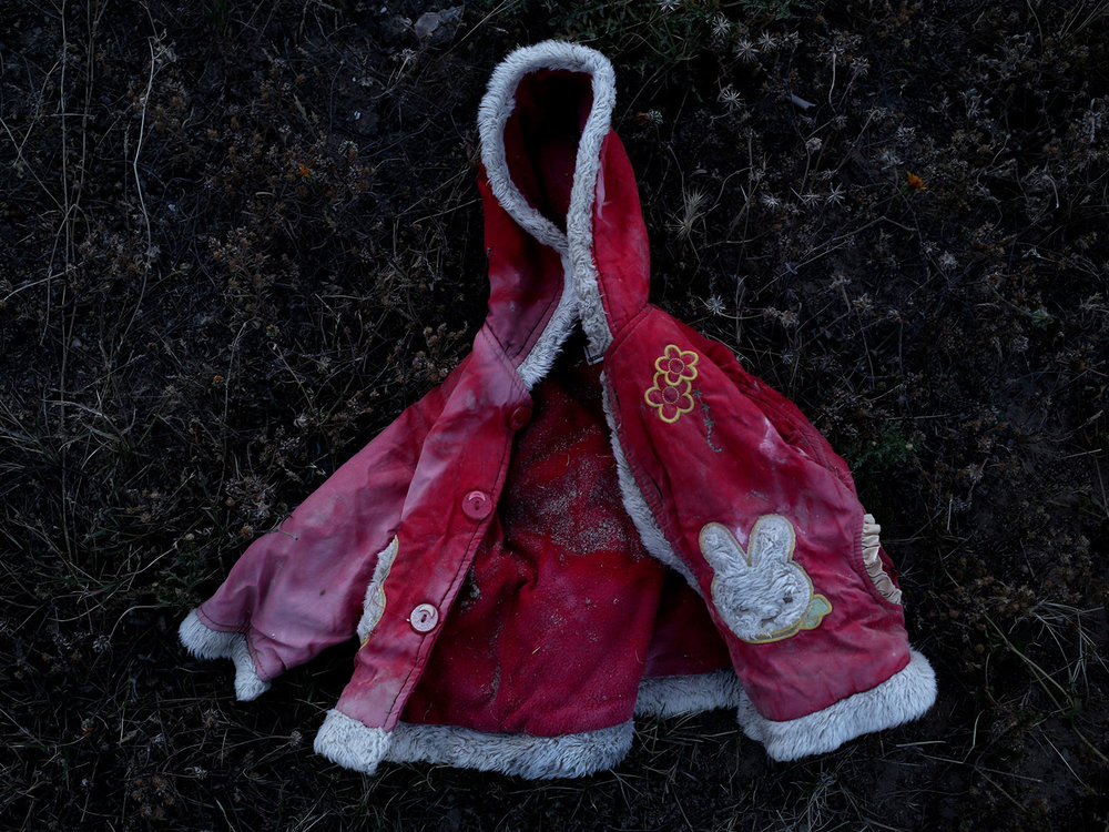 In this April 15, 2018 photo, a child migrants jacket, in at the southern port town of Zarzis, Tunisia. (AP Photo/Nariman El-Mofty)