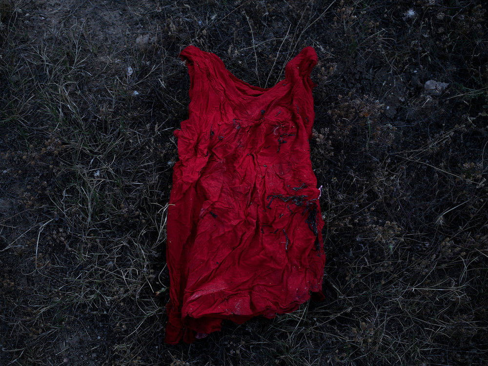 In this April 15, 2018 photo, a migrants shirt, in at the southern port town of Zarzis, Tunisia. (AP Photo/Nariman El-Mofty)