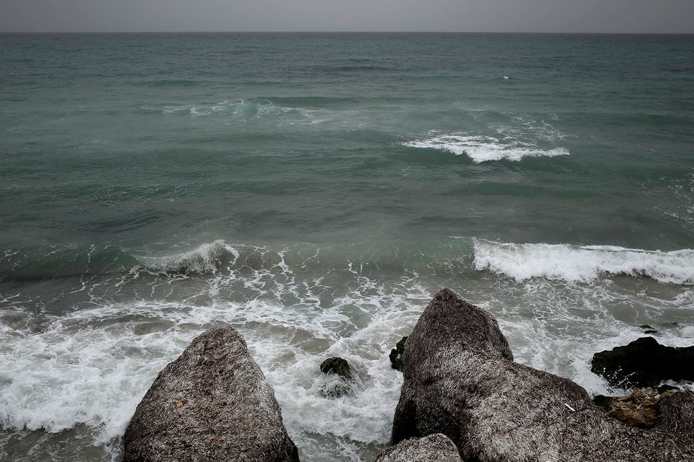 This Saturday, April 14, 2018, photo shows the beach from where migrants leave for Italy, in the town of Ras Jabal, Tunisia. (AP Photo/Nariman El-Mofty)
