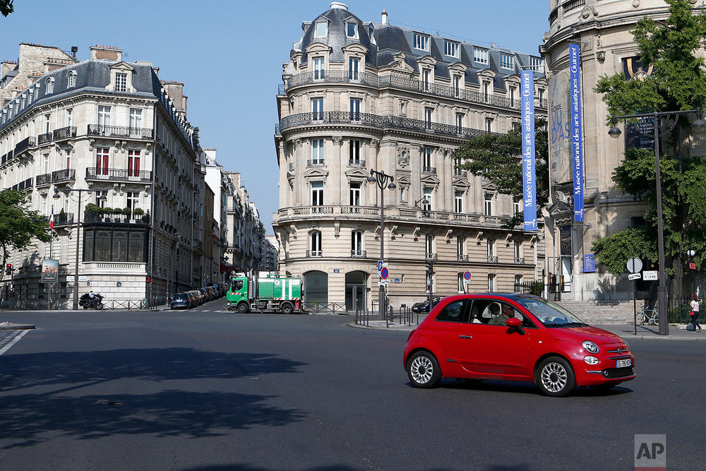This photo dated Monday, May 21, 2018, shows Iena square with the Guimet museum at right, in Paris, France. (AP Photo/Laurent Rebours)