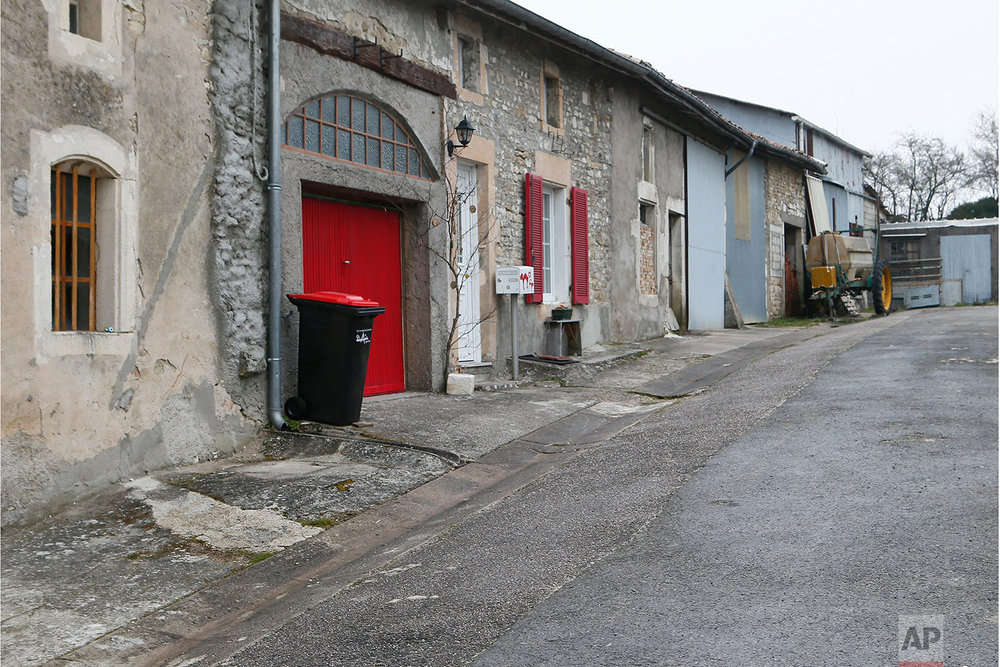 This photo dated March 26, 2018 shows a street in Pierrefitte sur Aire, eastern France. (AP Photo/Laurent Rebours)