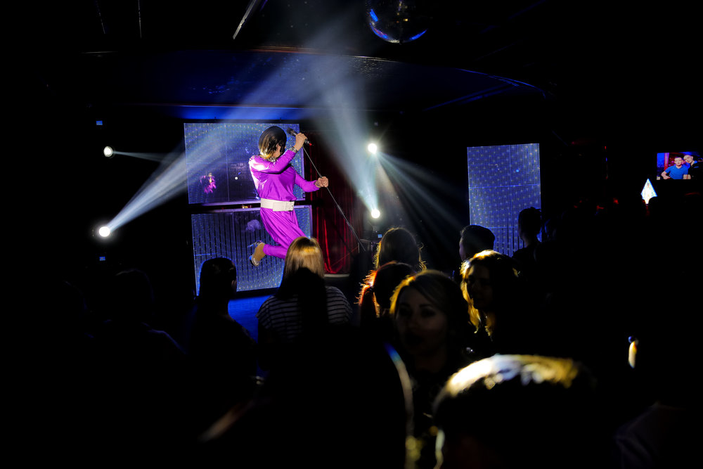 Markus, who uses the stage name Linda Fox, performs at the Fame gay club, during the 2018 soccer World Cup in Yekaterinburg, Russia on Sunday, June 24, 2018 (AP Photo/Vadim Ghirda)