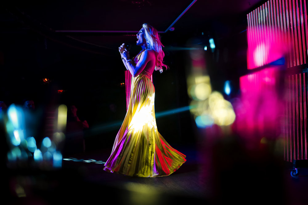Andrei, who uses the stage name Star Vasha performs at the Fame gay club, during the 2018 soccer World Cup in Yekaterinburg, Russia on Sunday, June 24, 2018. (AP Photo/Natacha Pisarenko)
