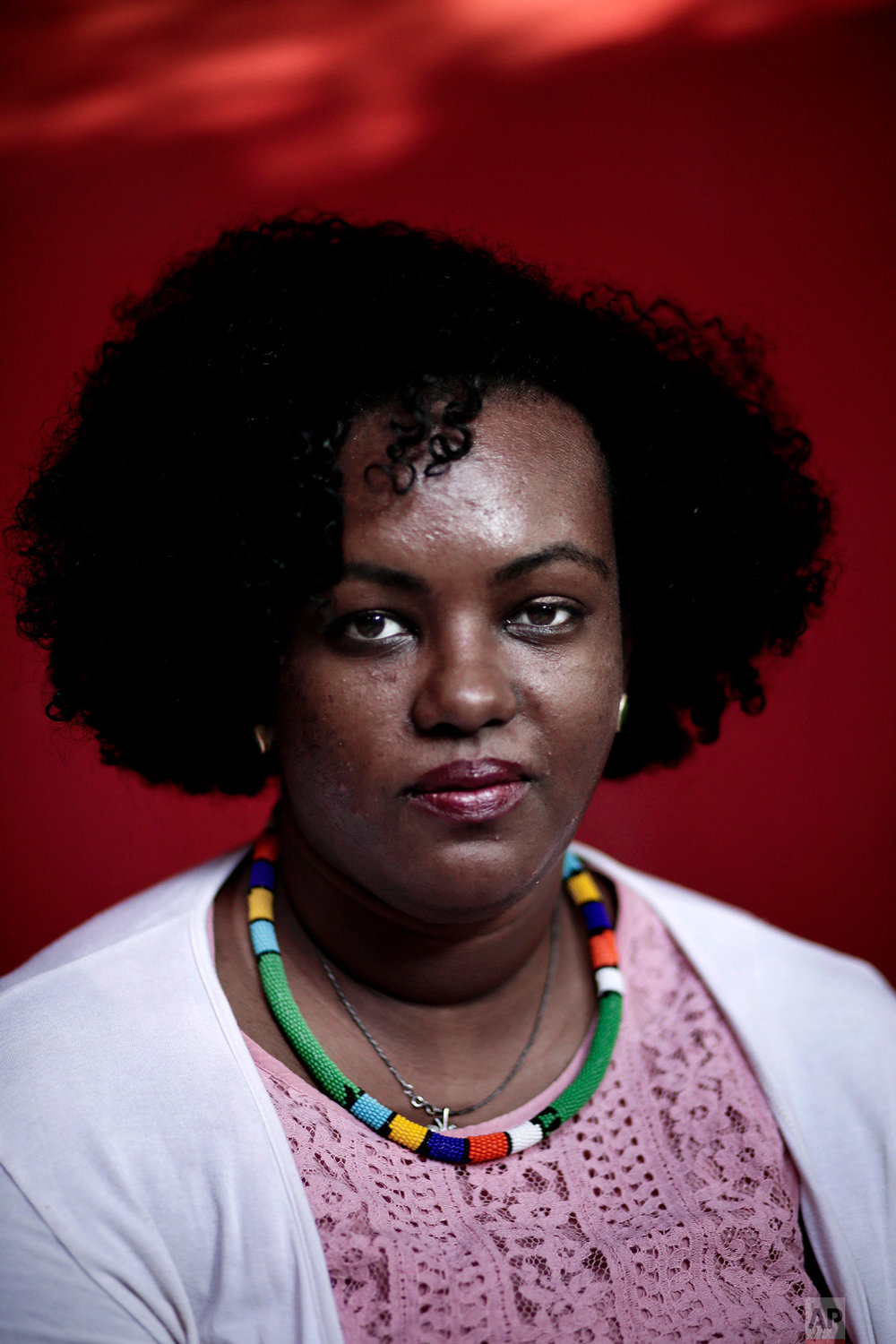 Nubian activist Fatmah Imam poses for a photograph in Cairo, Egypt. (AP Photo/Nariman El-Mofty)