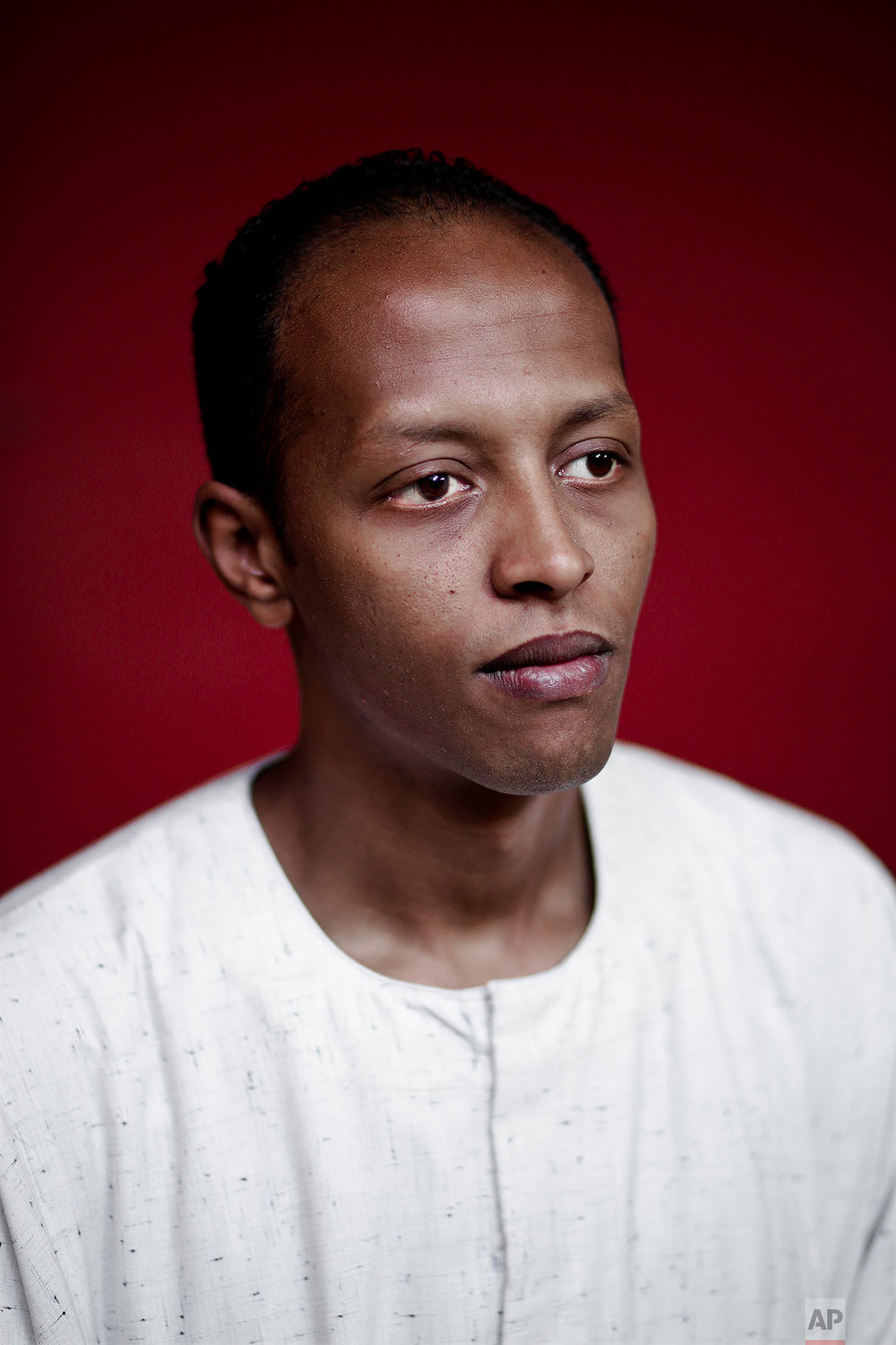 Nubian activist Waleed Toka poses for a photograph in Cairo, Egypt. (AP Photo/Nariman El-Mofty)