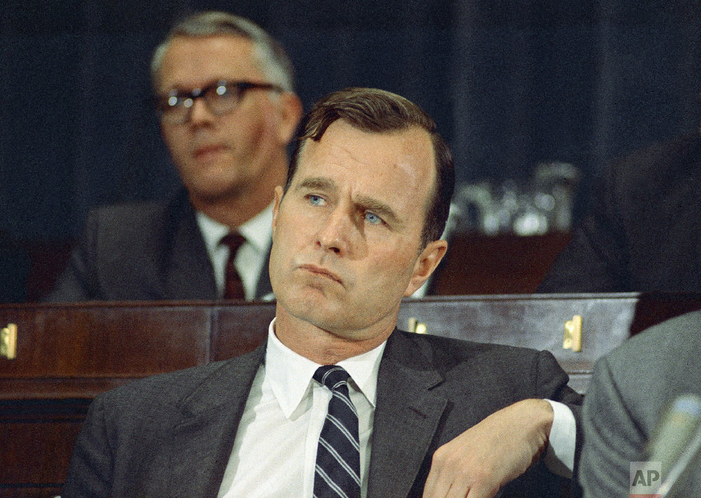 George H. Bush (R-Texas) is seen on March 6, 1968 in Washington, D.C. (AP Photo/Charles Tasnadi)