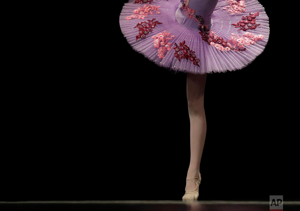 Skylar Rutman performs in the Youth America Grand Prix North America regional semi-finals in River Forest, Ill. (AP Photo/Nam Y. Huh)