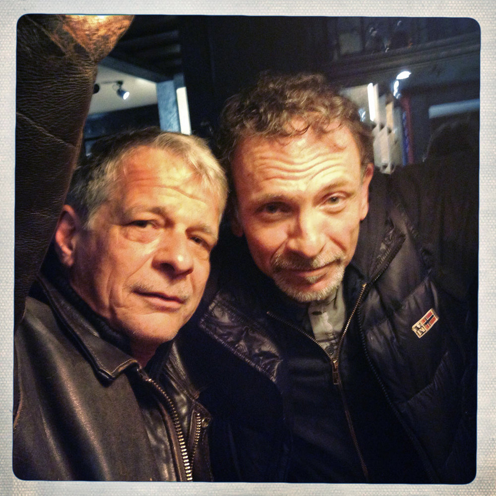 Yannis and Dusan on April 11, 2014 in Hoexter, Germany after attending the funeral of photographer Anja Niedringhaus, killed in Afghanistan.(Photo/Enric Marti)