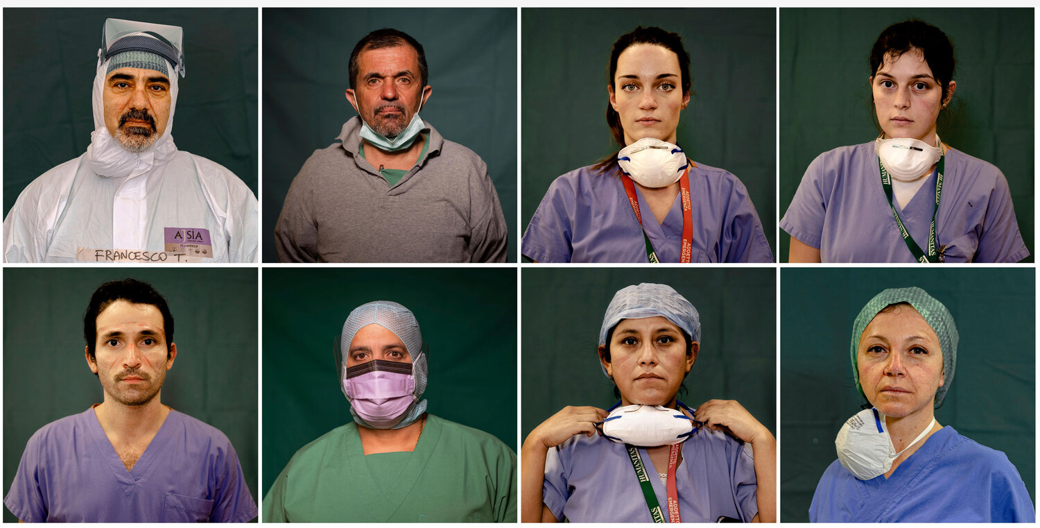 Italy's front-line medical heroes, in portraits