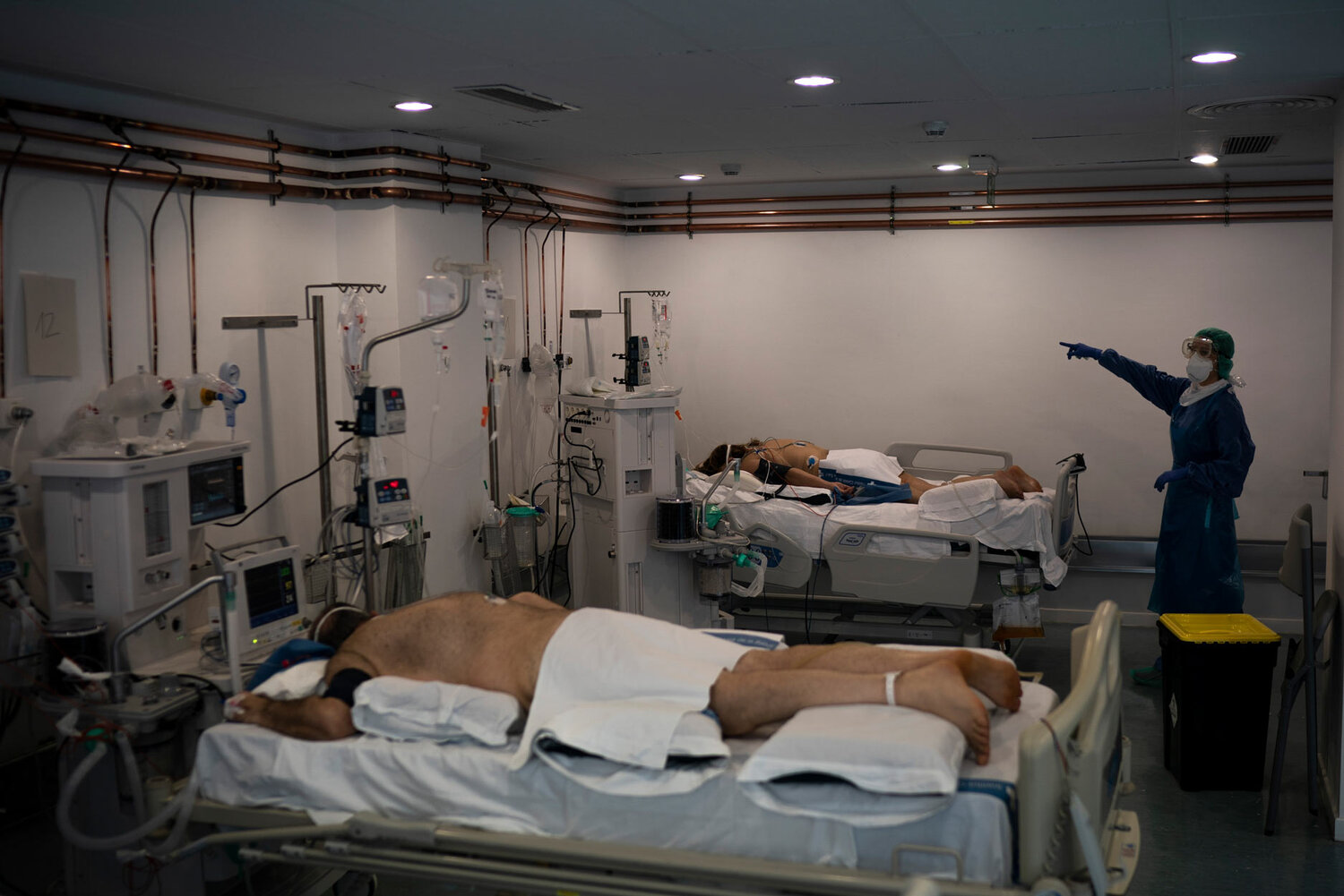 The daily terrors: Improvising in a makeshift ICU in Spain