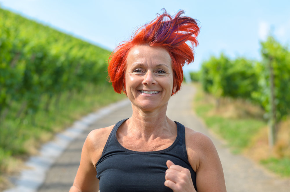 redhead jogging