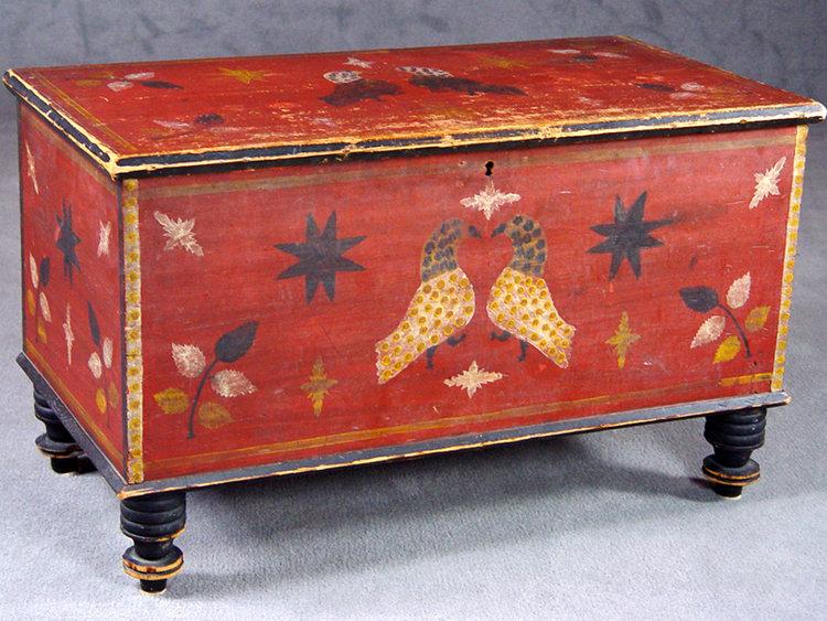 Valley of Virginia Folk Art chest, Stirewalt School, mid 19th. Sold for  $143,000 - Ken Farmer