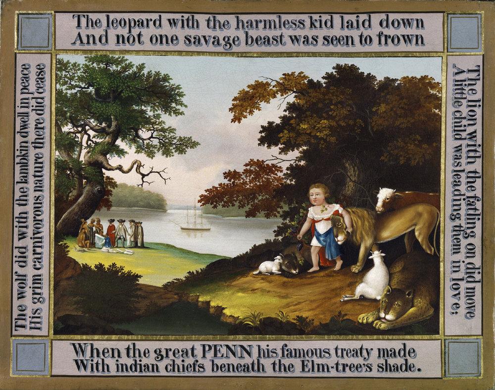 Edward Hicks, Peaceable Kingdom, c. 1826, Philadelphia Museum of Art