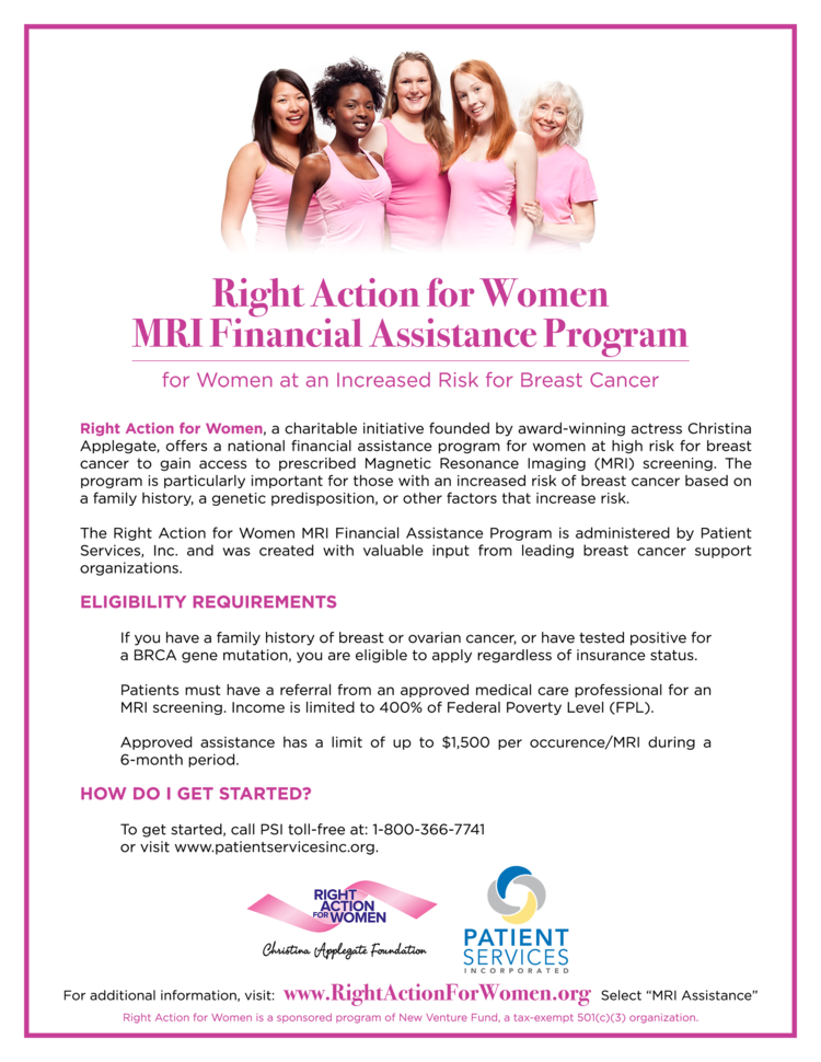 Mri Assistance Right Action For Women