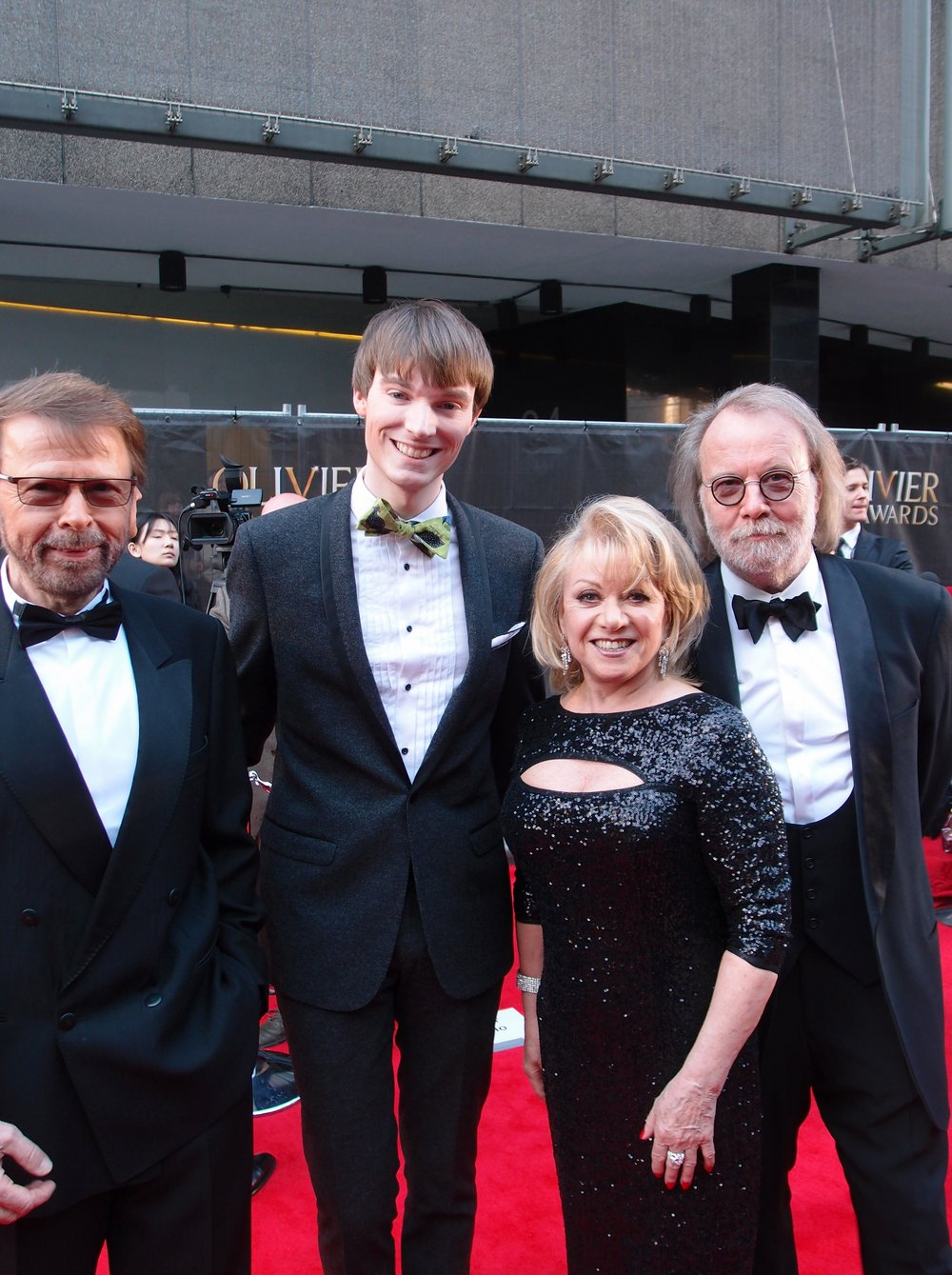 ABBA members Björn Ulvaeus and Benny Andersson with Elaine Paige and Richard Brownlie-Marshall