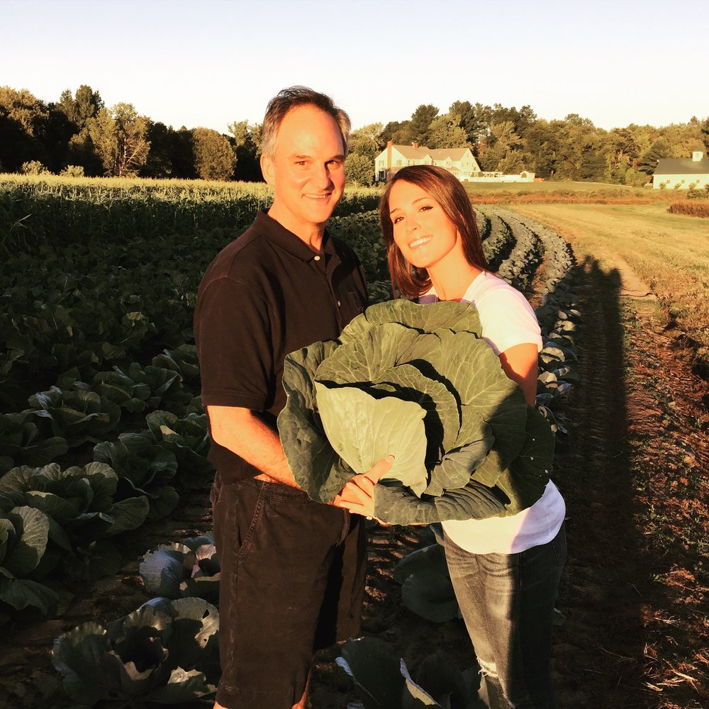 Harvesting Cabbage with my Dad - Thanksgiving 2016