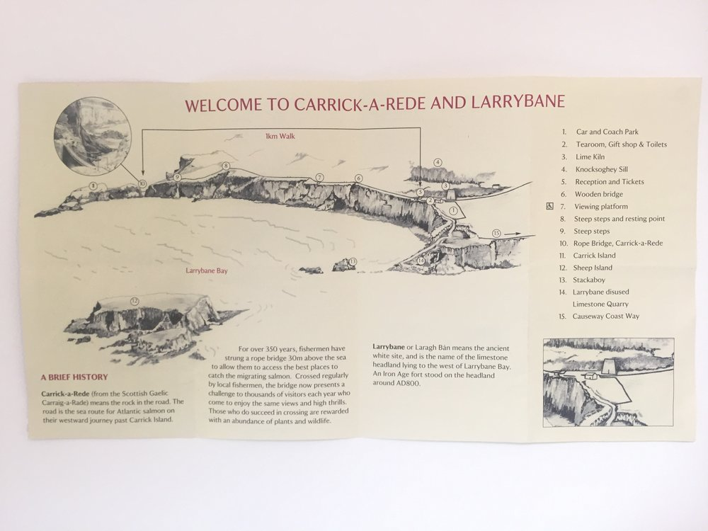 carrick a rede map causeway northern ireland